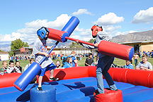 A popular venue was the jousting arena during the 50 year celebration.