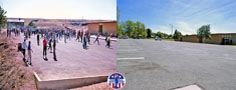 In 1962, the East parking lot was also a playground for 6th graders. In 2013, it is only used as a parking lot.