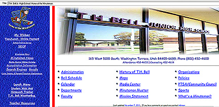 The website as it looked from 2004 -2011.