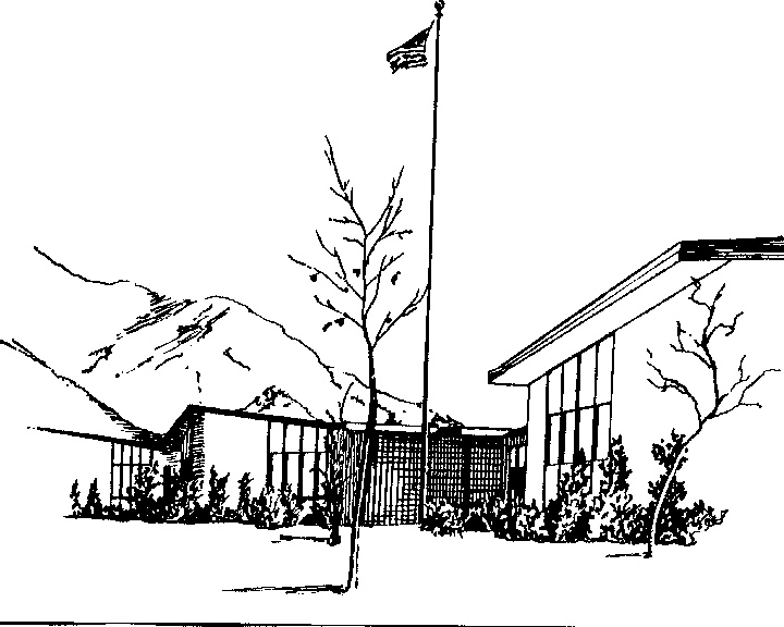 Early drawing of T. H. Bell Jr. High