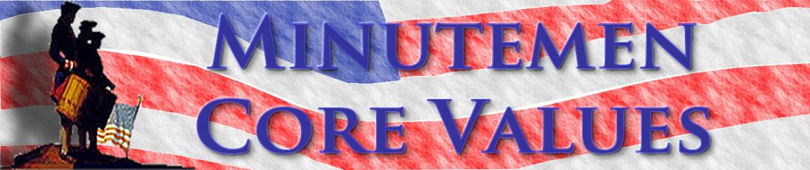 Banner -Minutemen Core Values