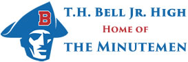 T.H. Bell Logo with T.H. Bell Jr. High Home of the Minutemen